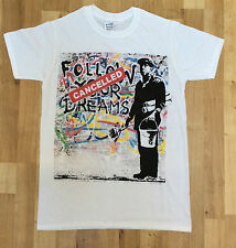 Banksy Follow Your Dreams Cancelled - Graffiti Street Art Mens White T-Shirt