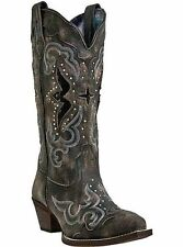 Laredo Women Lucretia Black/Tan  Western Fashion Cowgirl Cowboy Boot 52133