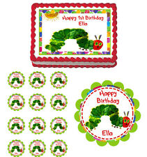 THE VERY HUNGRY CATERPILLAR  Edible Birthday Party Cake Topper Cupcake Image