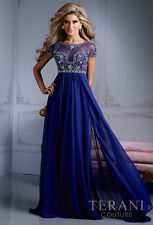 2014 Royal Blue Long Prom Evening Party Mother Of The Bride Dress Custom