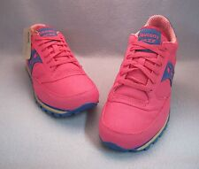 SAUCONY WOMEN'S JAZZ LOW PRO VEGAN  Canvas Sneakers Pink/Blue  WM'S Sz 11