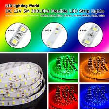 High Quality! DC 12V 5M 300LEDs SMD 3528/5050/5630 Flexible LED Strip Light