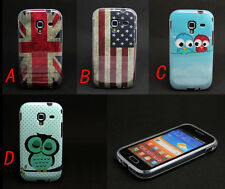 New Owl Flag Pattern Tpu Skin Soft Case Cover For Samsung Galaxy Ace 2 II i8160