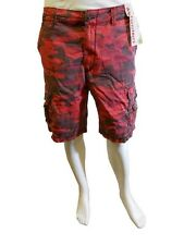 UnionBay Young Men's Cargo Shorts Stop Red Camo Y188H36 NWT .