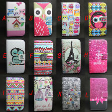 Owl Wallet Leather Flip + Tpu Case Cover For Samsung Galaxy i8160/i8262/S7562