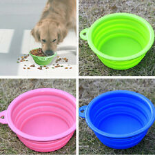 Portable Collapsible Pet Dog Cat Silicone Travel Feeding Feeder Bowl Water Dish