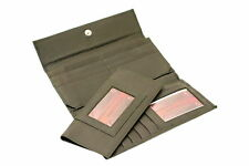 Womens Genuine Leather Clutch Wallet Removable Checkbook Cover Button Snap New