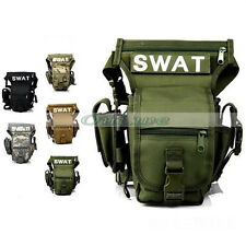 Multi-fonction Police SWAT Useful Drop Leg Utility Waist Carrier Belt Large Bag