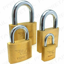 SOLID BRASS KEYED ALIKE Padlock 25/40/50/60mm Small-Large Strong Security Lock
