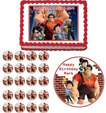 WRECK IT RALPH Edible Cake Topper Cupcake Image Decoration Birthday Party
