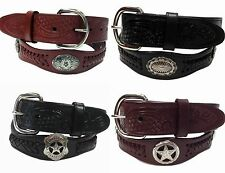 """Western Genuine Leather Concho Belts Wholesale 1.5""""  BW4176A-4180"""
