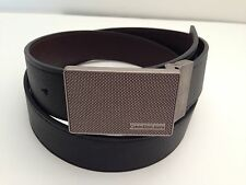 CALVIN KLEIN Men's Belt Reversible Black~Brown Design Buckle Sz 34 36 38 40 42