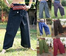 Thai Fisherman Yoga Samurai Kung Fu Tai Chi Boho Hippie Maternity Trousers Pants