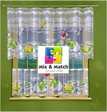 Jacquard Cafe Net Curtains and Net Curtains - FROGS - Hand-Painted