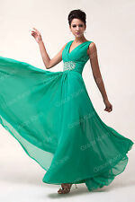 Chiffon Evening/Formal/Bridesmaid/Ball gown/Party/Prom/Bridal Long Dress Stock
