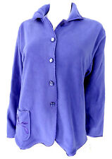 Slenderella Micro Fleece Buttoned Bed Jacket Jackets Purple Pink Floral S M L XL