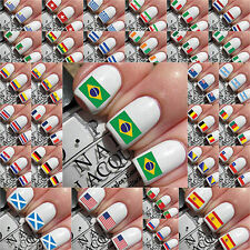 NAIL ART WORLD CUP 2014 BRAZIL FOOTBALL FIFA NAILS STICKERS CHOOSE FLAG FLAGS UK
