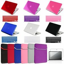 "4in1 Crystal Hard Case+Keyboard Skin+Clear film+Sleeve For Macbook PRO 13"" A1278"