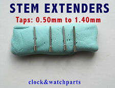 WATCH STEM EXTENDER EXTENSION, watch winder extension, 22 diff sizes 0.50-1.40mm