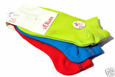 s.Oliver Women's Sneaker Socks 3 Pairs Trainers Footlets Lime-mix