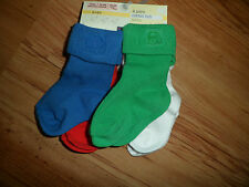 NEW 4 PACK BABY BOYS SOCKS RED GREEN BLUE WHITE M&S BABY COTTON RICH
