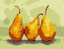 Pears Needlepoint Kit or Canvas, Art Needle Point Kit New Canvases Painted
