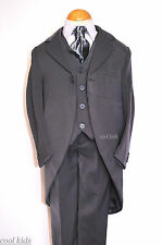BOYS GREY MORNING SUITS, TAIL SUITS 0-3MONTHS- 10 YEARS,FORMAL WEAR ALL OCCASION