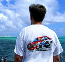 BRE Datsun 510 t-shirt--art by Dave Deal sold by Peter Brock BRE