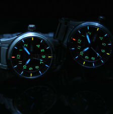 Japan Movement Swiss 3H Tritium Self Luminous 25 Yrs Mens Glow Mechanical Watch