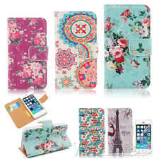 VINTAGE FLIP STAND FLORAL PRINTED WALLET PU LEATHER CASE COVER FOR IPHONE 4G 4S