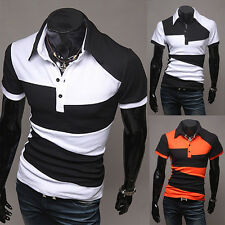 New Fashion Men's Boy Slim Fit Casual Polo Shirt T-Shirt Long/Short Sleeve M-XXL