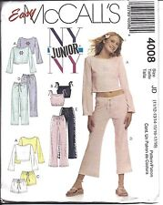 4008 UNCUT Vintage McCalls Sewing Pattern Teen Juniors Lounge Tops Shorts Pants