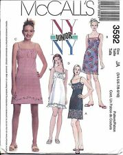 3592 UNCUT Vintage McCalls Sewing Pattern Teen Juniors Summer Empire Dress OOP