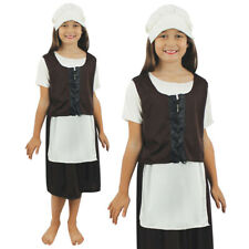 GIRLS TUDOR COSTUME POOR MEDIEVAL MAID CHILDS SCHOOL BOOK WEEK DAY FANCY DRESS
