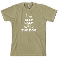 Keep Calm And Walk The Dog - Mens T-Shirt - Canine - Pet - 10 Colours