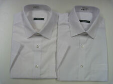 MENS MARKS AND SPENCER WHITE SHORT SLEEVE EASYCARE SLIM FIT OFFICE SHIRT x 2