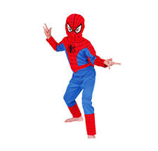 3pcs Boys Spiderman Fancy Dress Kids Outfit Halloween Costume Superhero Cosplay