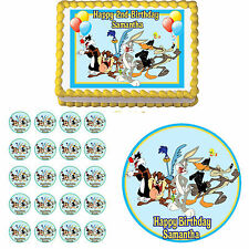 LOONEY TUNES Edible Cake Topper Cupcake Image Decoration Birthday Party