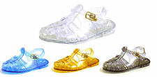 GIRLS INFANTS BABY KIDS NEW FLAT RETRO 90S JELLY GUM SUMMER SANDALS SHOES SIZE