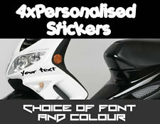 4x Peugeot Personalised Custom Moped Scooter Stickers Lots of Fonts + Colours