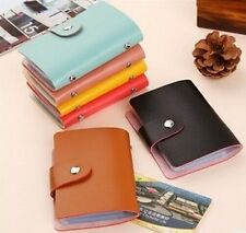 New 24 Slots Soft Leather ID Bank Debit Credit Card Holder AD105