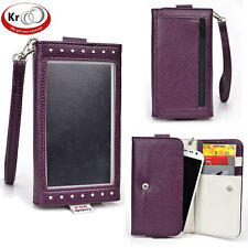 Kroo Clutch Wristlet Wallet with Screen for Smartphone up to 5.1 Inch