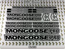 MONGOOSE PRO Bicycles Bikes High Quality Decals Stickers Frames Restoration A61M