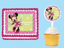 MINNIE MOUSE  Edible Cake Topper Cupcake Image Decoration Birthday Party