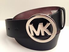 MICHAEL KORS Woman's Belt *Genuine Leather Black w/Silver Buckle* Size S M L XL
