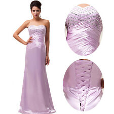 Chic Cocktail Graduation Ball Gown Evening Prom Party Bridesmaid Maxi Dress 2 4+