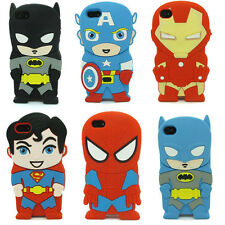 New 3D Cute Cartoon Super Hero Soft Skin Silicone Cover Case For Apple iPhone 5C