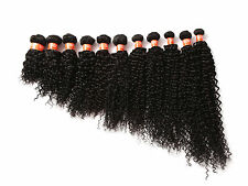 """100% Unprocessed Human hair extension BRAZILIAN CURLY Natural Color 6A 10""""-30"""""""