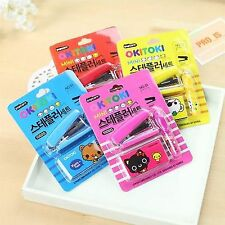 1X Cartoon Animal Creative Stationery Cute mini Stapler staples Office supplies
