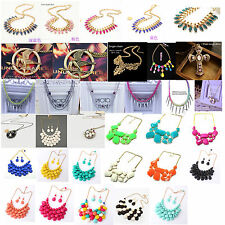 Fashion Retro Vintage Womens Bubble Bib Statement Collar Necklace Party Jewelry